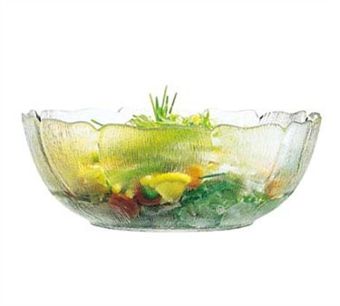 Fully Tempered 3.5-Quart Fleur Glass Bowl - 10-1/2