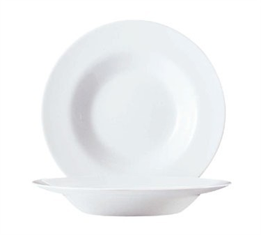 Cardinal G0320 Restaurant White Glass Pasta Bowl 18 oz.