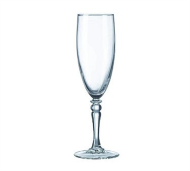 Fully Tempered 5-3/4 Oz. Siena Glass Champagne Flute - 7-3/4