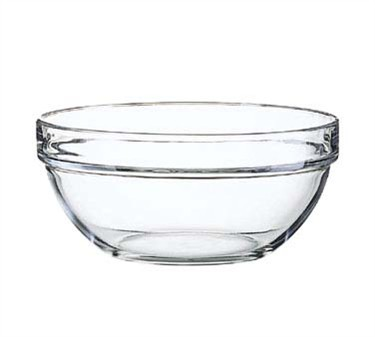 Fully Tempered 64 Oz. Stacking Glass Bowl - 8