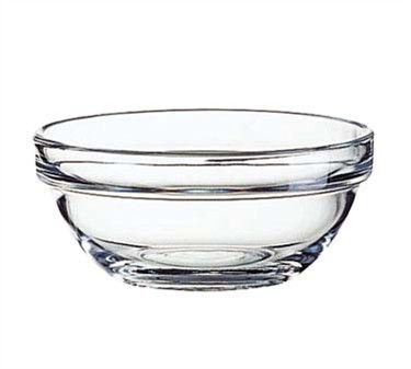 Fully Tempered 7-1/2 Oz. Arcoroc Stacking Glass Bowl - 4-1/8