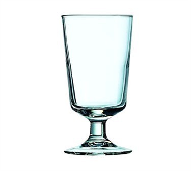 Fully Tempered 8 Oz. Excalibur Footed Hi Ball Glass - 5-1/4