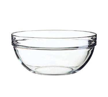 Fully Tempered 94 Oz. Stacking Glass Bowl - 9