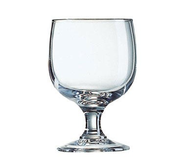 Fully Tempered Amelia Arcoroc 10-3/4 Oz. Stacking Glass Goblet - 5