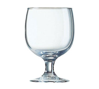 Fully Tempered Amelia Arcoroc 8-1/2 Oz. Stacking Glass Goblet - 4-5/8