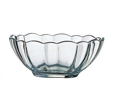 Fully Tempered Arcade 5-1/2 Oz. Stacking Glass Bowl With Ridged Edges - 4