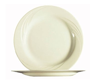 Fully Tempered Cypress Bone White Glass Plate - 10-5/8