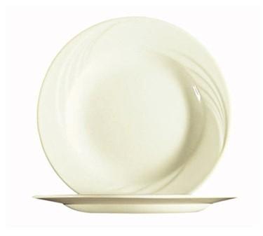 "Cardinal 25755 Arcoroc Opal Cypress Bone White Glass Dessert Plate 7-5/8"" Dia."