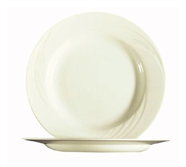 Fully Tempered Cypress Bone White Glass Plate - 9-1/2