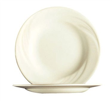 Fully Tempered Cypress Bone White Glass Plate - 6-1/8