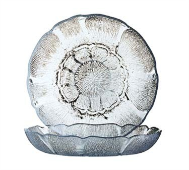 Fully Tempered Fleur Deep 15 Oz. Glass Soup/Salad Plate - 8