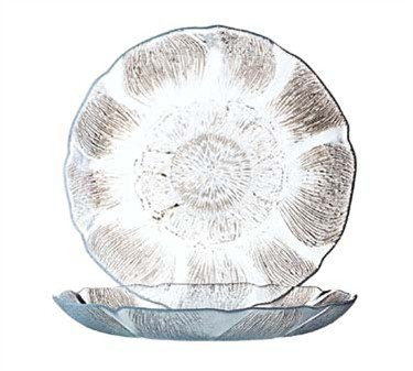 Fully Tempered Fleur Round Glass Dinner Plate - 9