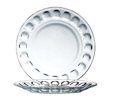 Fully Tempered Glass Roc Dinner Plate - 9-1/8