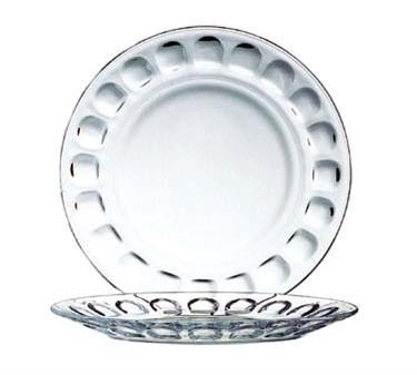 "Cardinal 1141 Arcoroc Roc Glass Dinner Plate 9-1/8"" dia."