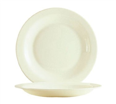 "Cardinal 15368 Reception Bone White Pellet Plate 9"" Dia."