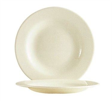 "Cardinal 47925 Arcoroc Reception Bone White Glass Plate 6-1/8"" Dia."