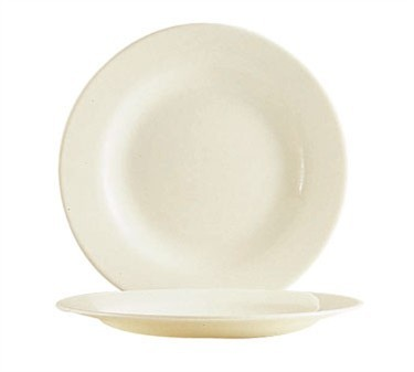 "Cardinal 47929 Arcoroc Reception Bone White Glass Plate 7-5/8"" Dia."