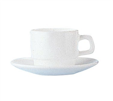 Fully Tempered Restaurant White 8 Oz. Glass Cup