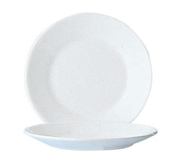 Fully Tempered Restaurant White Glass Plate - 6