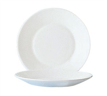 Fully Tempered Restaurant White Glass Plate - 7-1/2