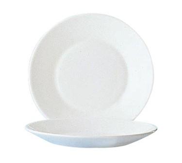 "Cardinal 22530 Arcoroc Restaurant White Glass Plate 7-1/2"" Dia."