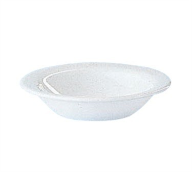 Fully Tempered Restaurant White 5 Oz. Glass Fruit Dish - 4-3/4