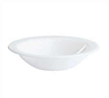 Fully Tempered Restaurant White 9 Oz. Glass Grapefruit Bowl - 6-1/2