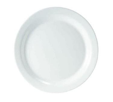 Fully Tempered Restaurant White Narrow Rim Glass Plate For Hospitals - 9