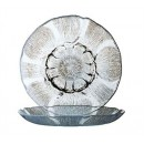 Fully Tempered Round Fleur Glass Dessert Plate - 7-1/2