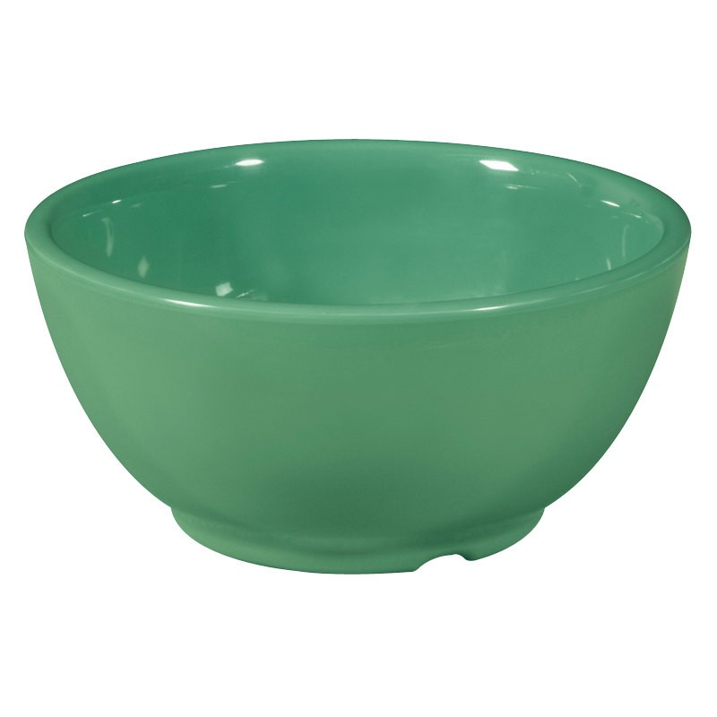 G.E.T. Enterprises B-105-FG Diamond Mardi Gras Rainforest Green 10 oz. Melamine Bowl