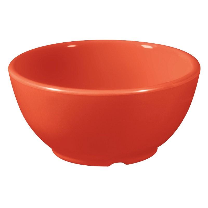 G.E.T. Enterprises B-45-RO Diamond Mardi Gras Rio Orange 10 oz. Melamine Bowl