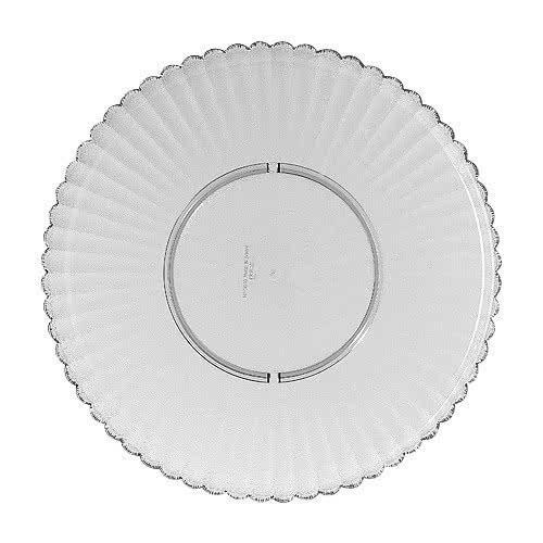 """G.E.T. Enterprises HI-2010-CL Mediterranean Clear Polycarbonate Round Plate 13"""""""