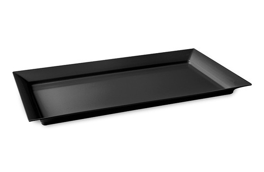 "G.E.T. Enterprises ML-242-BK Siciliano Black 28"" x 16"" Rectangular Tray"