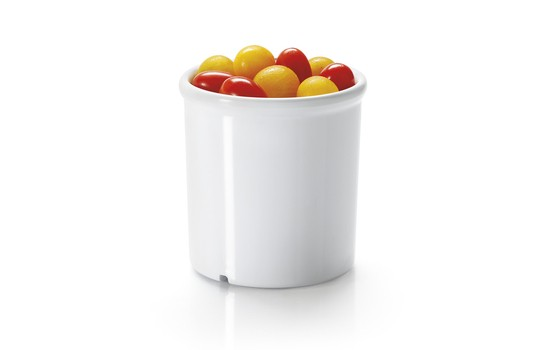 G.E.T. Enterprises ML-295-W White Melamine 16.5 oz. Round Crock