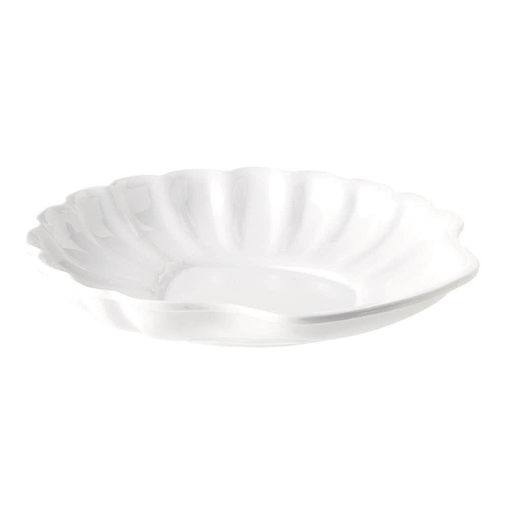 "G.E.T. Enterprises SH-12-W Creative Table White Shell Plate 12"""