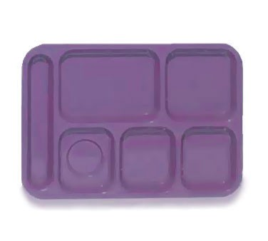 GET ABS Peacock Blue 6-Section Food Tray - 10