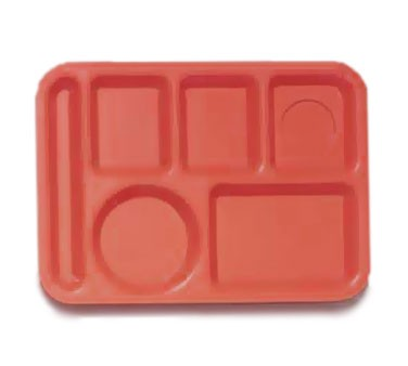 GET ABS Rio Orange 6-Section Food Tray - 10
