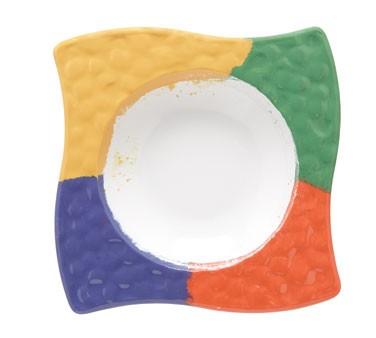 GET Acapulco 24 Oz. Four-Color Melamine Bowl - 12-1/4