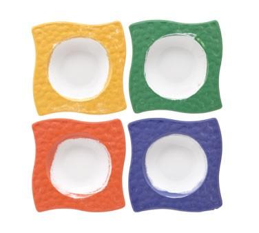 G.E.T. Enterprises B-1612-MIx Las Brisas Diamond Mardi Gras Mix 6 oz. Melamine Bowl