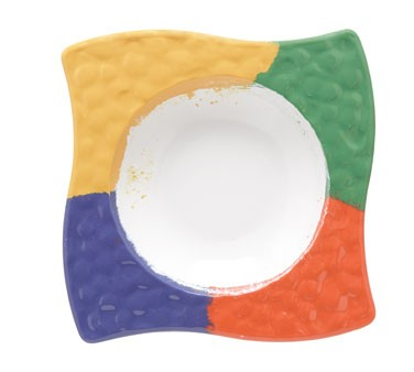 GET Acapulco 64 Oz. Four-Color Melamine Bowl - 18-1/2