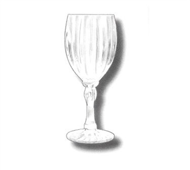 G.E.T. Enterprises SW-1422-1-SAN-CL Clear SAN Plastic 8 oz. Fluted Wine Glass