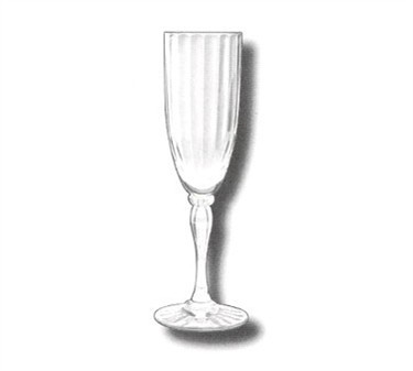 G.E.T. Enterprises SW-1420-1-SAN-CL Allure SAN Plastic 6 oz. Fluted Champagne Glass
