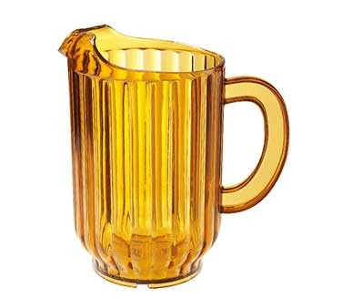 G.E.T. Enterprises P-2064-1-A Amber SAN Plastic 60 oz. Beer Pitcher