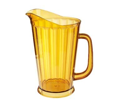 G.E.T. Enterprises P-1064-1-A Amber SAN Plastic 60 oz. Tall Beer Pitcher