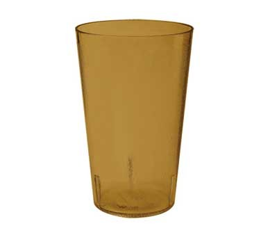 G.E.T. Enterprises 5032-1-2-A Amber SAN Textured 32 oz. Stackable Short Tumbler