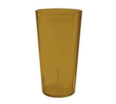 G.E.T. Enterprises 6616-1-6-A Amber SAN Plastic 18 oz. Textured Tumbler