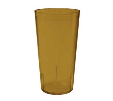G.E.T. Enterprises 6624-1-6-A Amber SAN Plastic 24 oz. Textured Tumbler