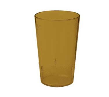 G.E.T. Enterprises 6695 1-2-A Amber 9.5 oz. SAN Plastic Textured Tumbler