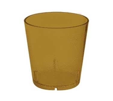 G.E.T. Enterprises 6608-1-2-A  9 oz. Amber SAN Plastic Textured Tumbler