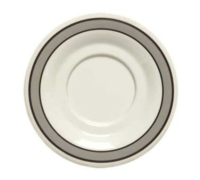 "G.E.T. Enterprises SU-3-CA Diamond Cambridge Melamine 5-1/2"" Saucer for B-105, BC-70, BC-170, B-454 & C-107"